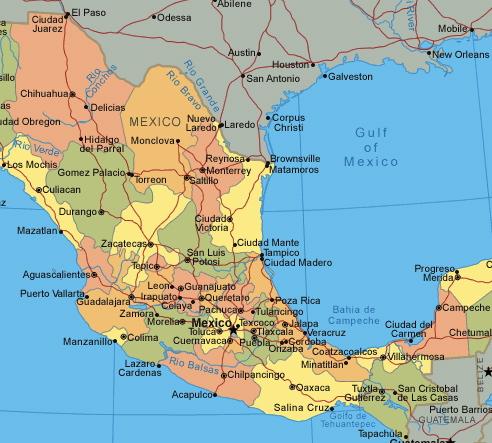 San Pancho Vida Road Trip Guanajuato - Mexico road map