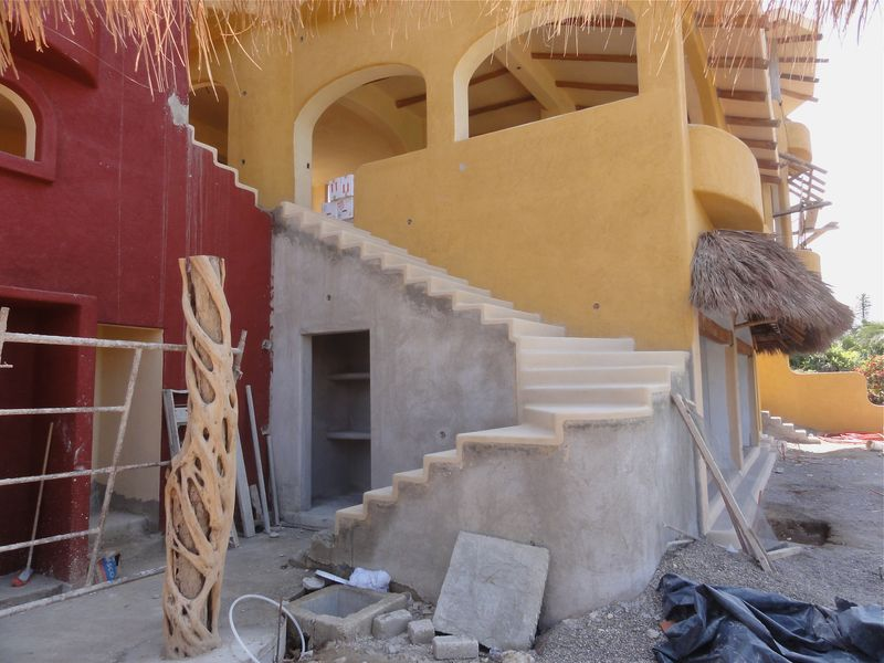 Stair corner from palapa