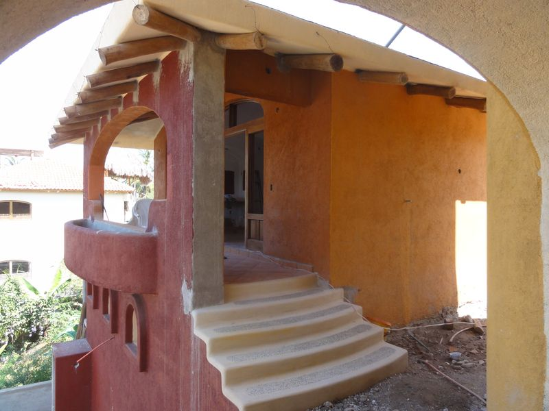 Casita stairs and terrace